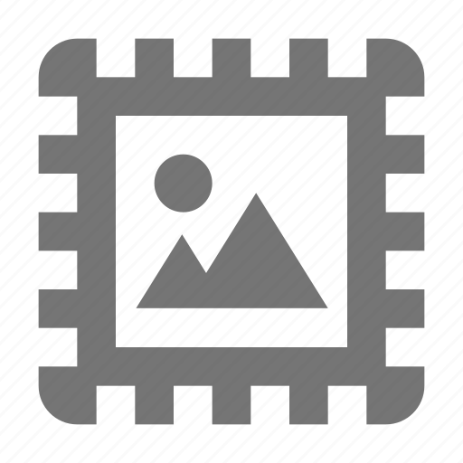 image, photo, stamp icon
