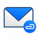 attachment, business, communication, email, gmail, mail, message icon