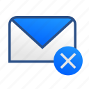 business, communication, email, failed, gmail, mail, message icon