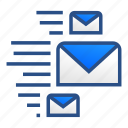 business, email, gmail, mail, message, multiple, sent icon