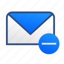 business, communication, email, gmail, mail, message, remove icon