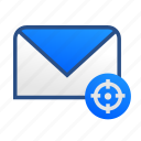 business, communication, email, gmail, message, office, target icon
