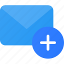 add, email, mail, send icon
