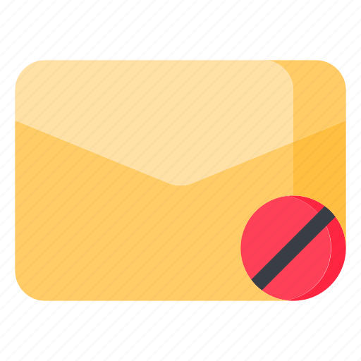 disable, email, envelope, letter, mail, message icon