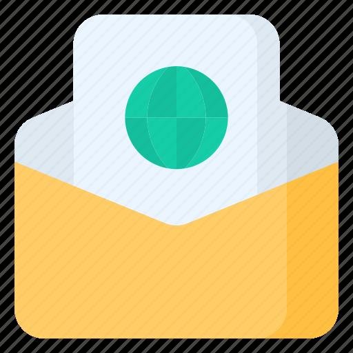 email, envelope, internet, letter, link, mail, message icon
