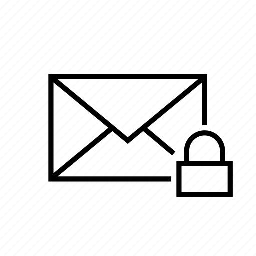 email, envelope, lock, mail, message, private, protection icon