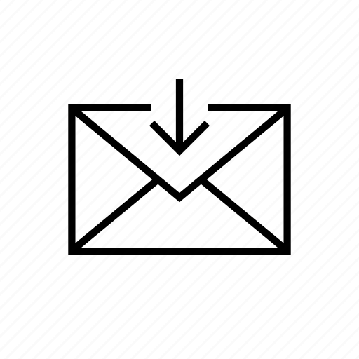 email, envelope, get, inbox, mail, receive, received icon