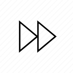 arrows, direction, go, last, next, right, triangle icon
