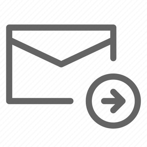 email, forward, mail, send icon