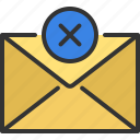 message, delete, minus, remove, letter, email, mail