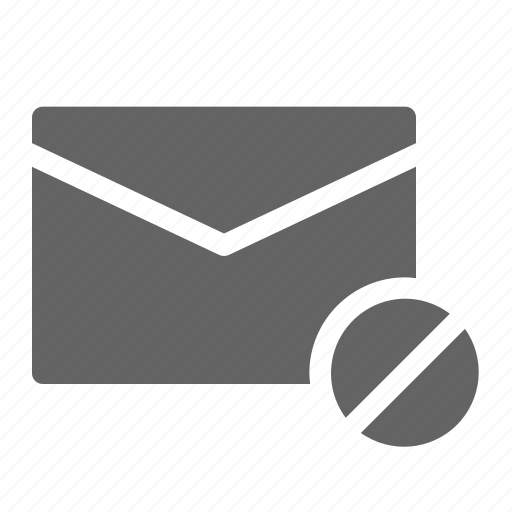 block, email, mail icon