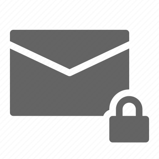 email, lock, mail, private icon