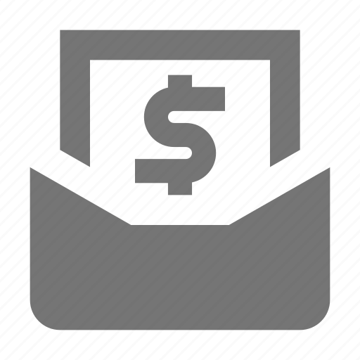 dollar, email, message, money icon