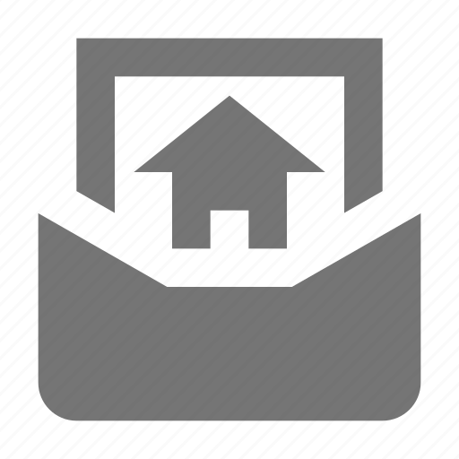 email, home, house, message icon