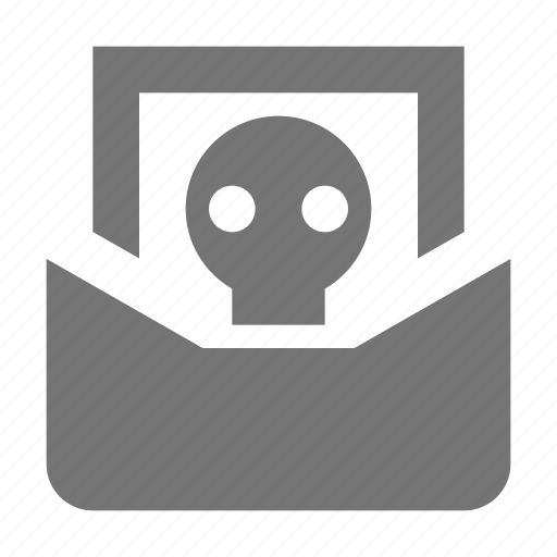 email, message, skull icon