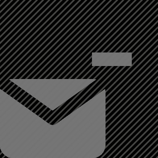 email, message, minimize, minus icon