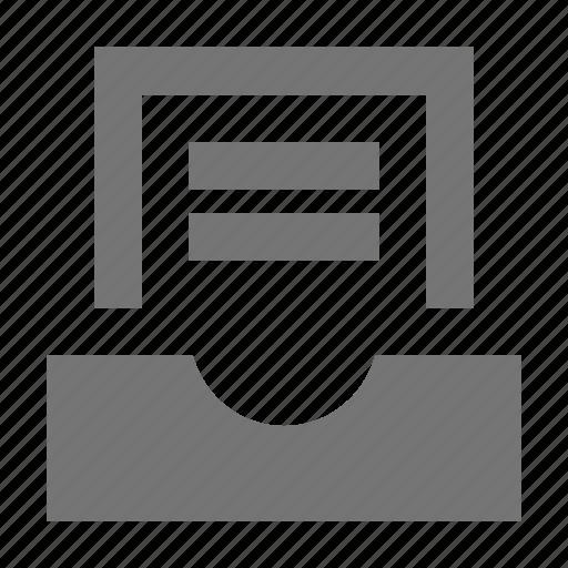 document, inbox, message icon