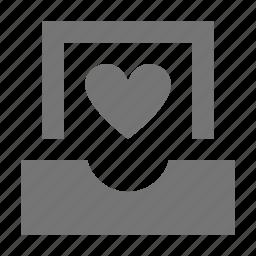 favorite, heart, inbox, like icon