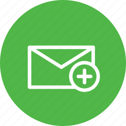 add, email, envelope, insert, letter, mail, plus icon