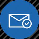 email, envelope, inbox, mail, message, true, verify