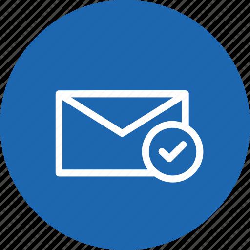 Email, envelope, inbox, mail, message, true, verify icon - Download on Iconfinder