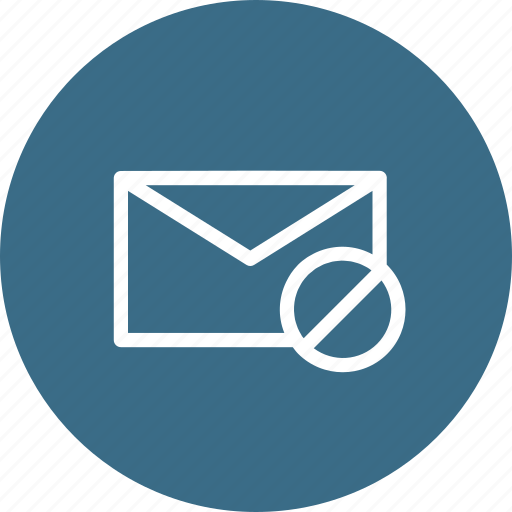Denied, email, envelope, failed, mail, receive, send icon - Download on Iconfinder