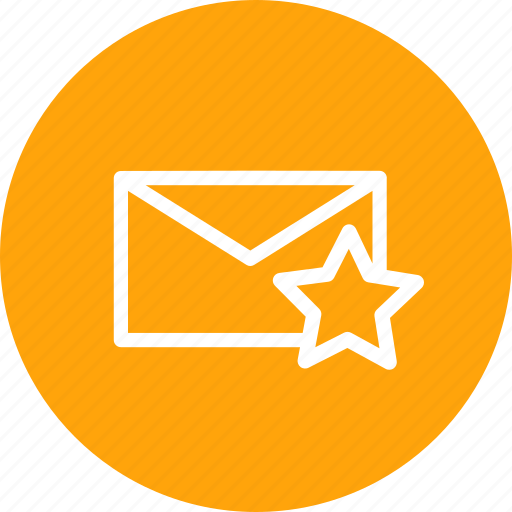 email, favorite, like, mail, newsletter, star icon