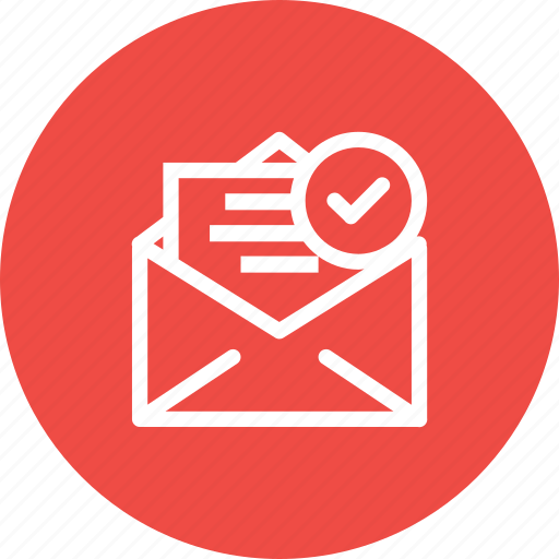 Email, inbox, mail, right, true, verified, verify icon - Download on Iconfinder