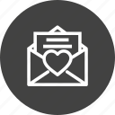 email, envelope, heart, letter, like, mail, message