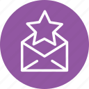 bookmark, bookmarks, email, favorite, mail, message, star icon