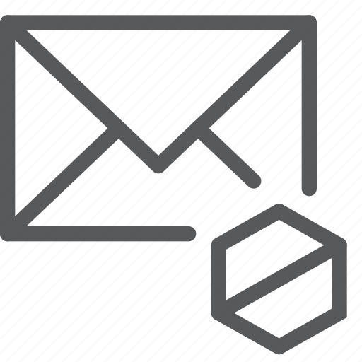 block, disable, email, envelope, letter, mail, message, send icon