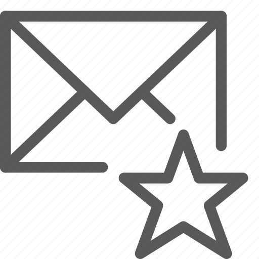 email, envelope, favorite, letter, mail, message, send, star icon