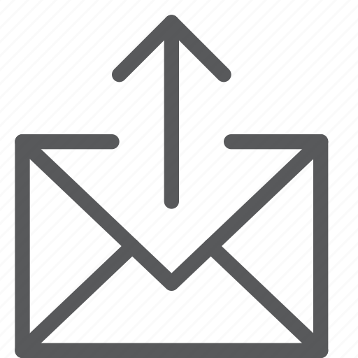 arrow, email, envelope, letter, mail, message, outbox, send icon