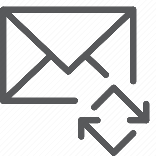 email, envelope, letter, mail, message, refresh, send, sync icon
