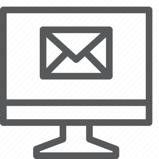 email, envelope, imac, letter, mail, message, screen, send icon