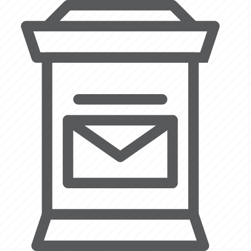 envelope, letter, mail, mailbox, message, send icon