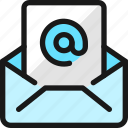 email, action, at