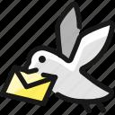 envelope, pigeon