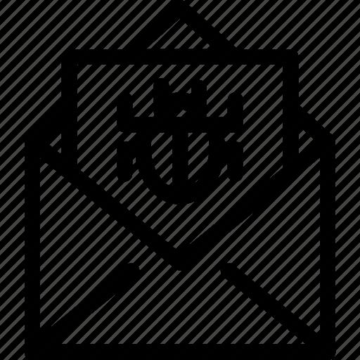 bug, spam, spaming, spams, trash, unimportant icon