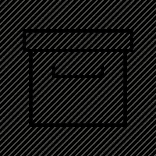 archive, box, file, mail, storage icon