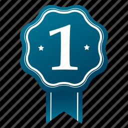 award, emblem, first, guarantee, quality, satisfaction, winner icon