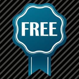 award, badge, emblem, free, guarantee, satisfaction, warranty icon