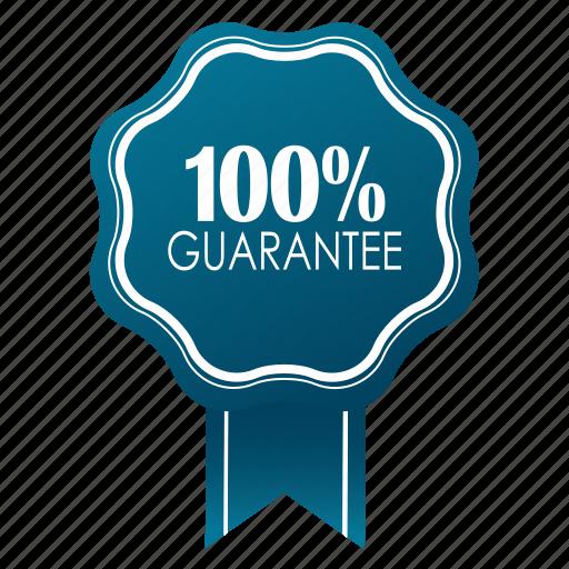 emblem, guarante, guarantee, guaranteed, hundred percent, satisfaction, warranty icon