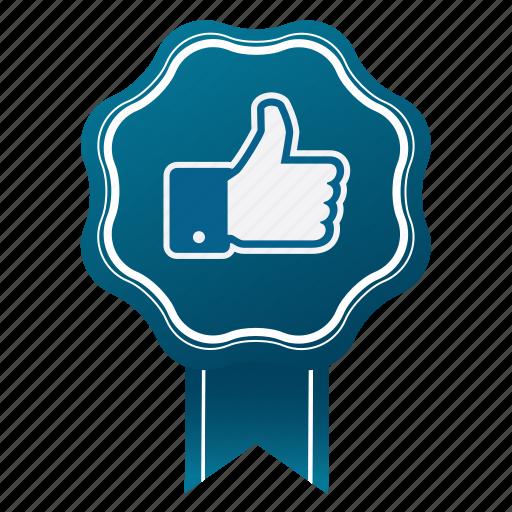 approve, award, badge, emblem, guarantee, like, satisfaction icon