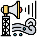 alerting, announcement, disaster, system, warning icon