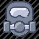 emergency, gas, mask, safety, toxic
