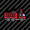 alert, danger, emergency, fire, firetruck, lineicons, truck