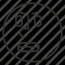 anger, cartoon, emoji, emoticon, face, smile, smiley icon