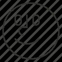 cartoon, emoji, emoticon, face, smile, smiley icon