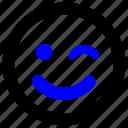 emoji, emoticon, smiley, wink, happy, funny, smile
